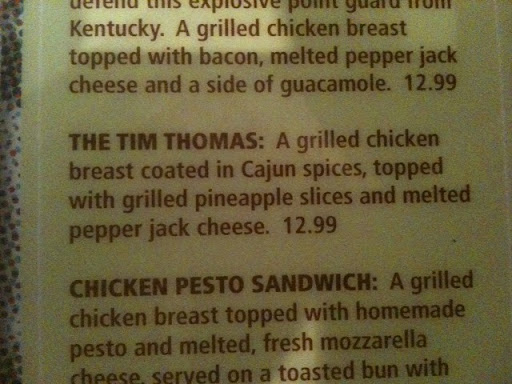 tim thomas sandwich
