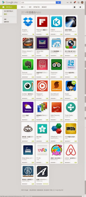 2014年度最佳Apps http://sbonny.blogspot.com/2014/12/bestapps-of2014.html