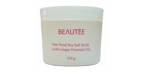 Beautee Pure Dead Sea Salt Scrub (with Ginger Essential Oil)