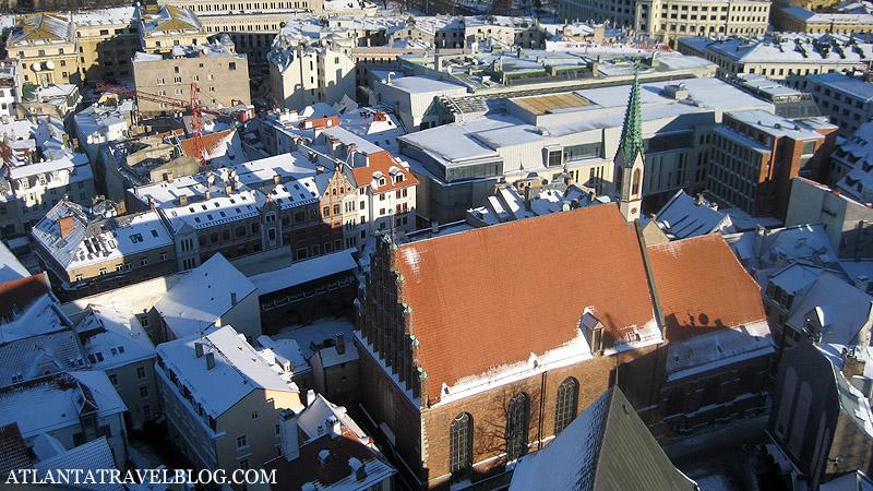 Рига - вид с церкви Святого Петра