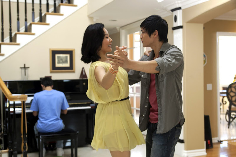 Joan Chen and Harry Shum Jr. in White Frog