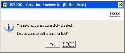 Crear nuevo host en SAN IBM DS3950 para asignar unidad lógica