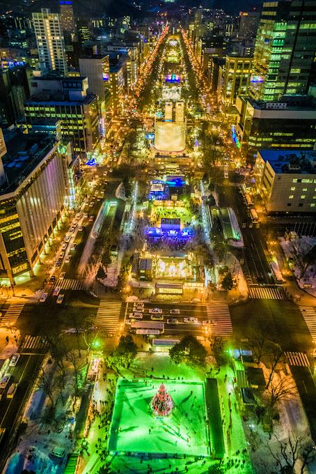 札幌 テレビ塔 夜景 写真2