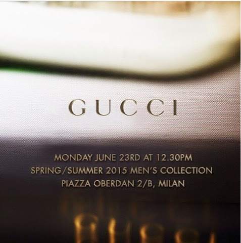 Watch Gucci's Men's Spring/Summer 2015 Collection LIVE Here Tonight!