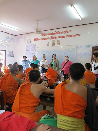 Our group at a school for monks in Luang Prabang, Laos