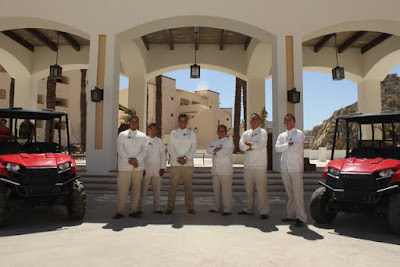 Staff Members at Entrance of Grand Solmar Land's End Resort & Spa in Cabo San Lucas, Mexico --Photo Courtesy of CIIC
