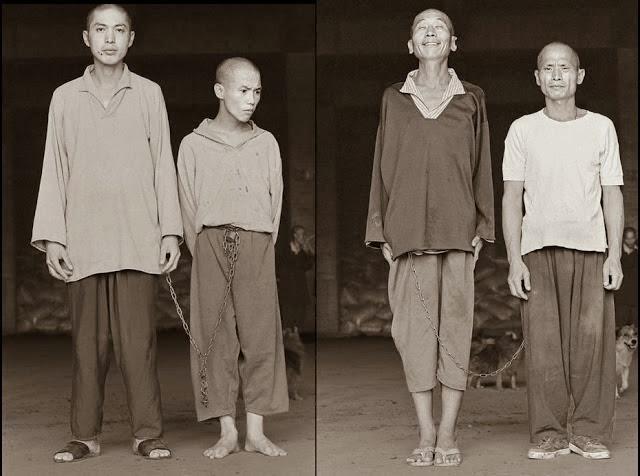 Pacientes e tutores acorrentados um ao outro