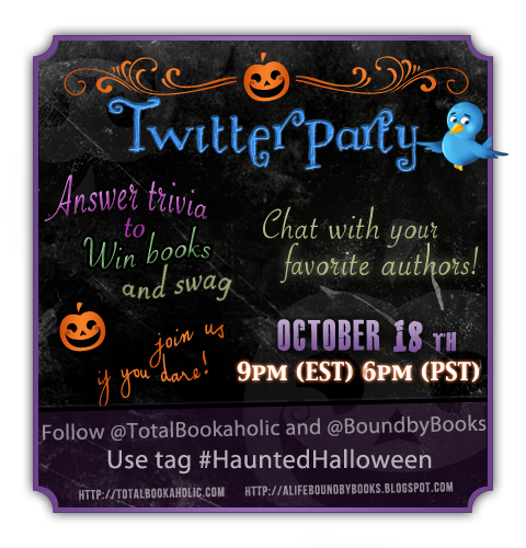 Haunted Halloween: It's a Twitter Party! Tonight at 9pm (EST) 6pm (PST)
