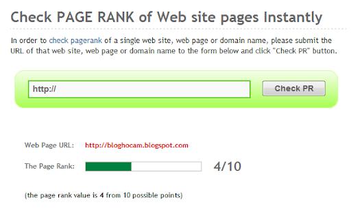 Blog Hocam PageRank değeri