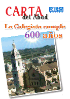 Carta del abad de la iglesia colegial basílica de santa María de Xàtiva. La colegiata cumple 600 años