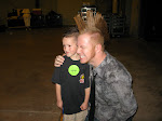 Aden poses with Kline..that's his first name and he has a mohawk