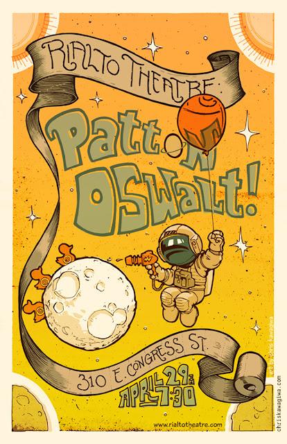 """""""Patton Oswalt poster gigposter Rialto Theatre"""""""