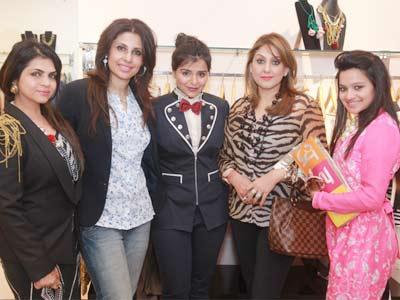 Rooma Sekhri, Salloli Kumar, Kanika Jain, Meenaxi Dutt and Musskan during Kanika Jain's new collection launch at 114 Shahpur Jat, Delhi.