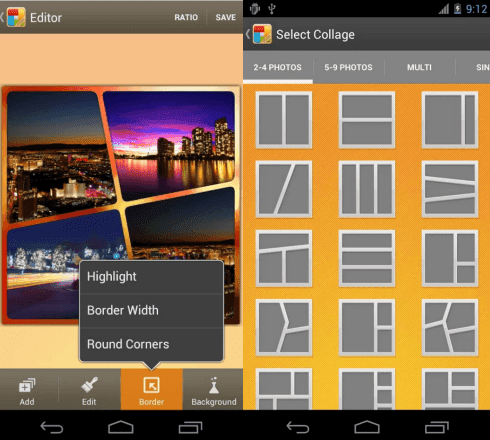 5 aplicaciones para hacer collages en android gratis for Collage foto online gratis italiano