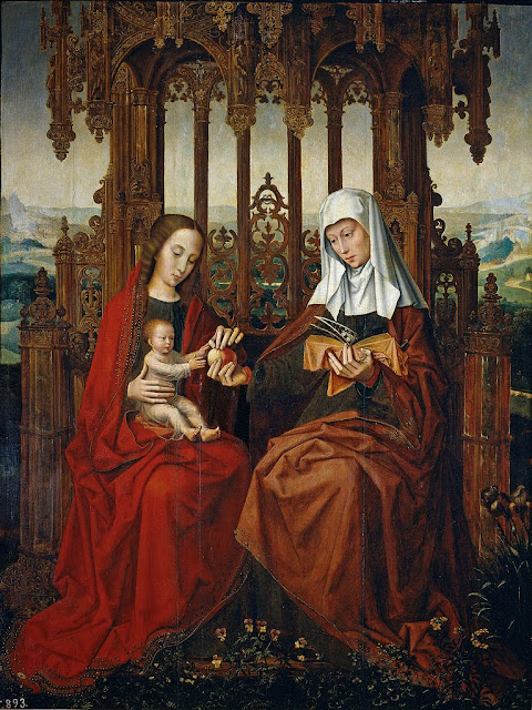 Ambrosius Benson - Saint Ann, the Christ Child and the Virgin Mary