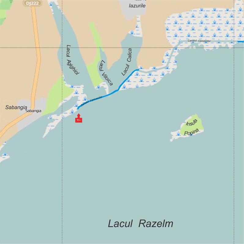 Iesiri din Delta Dunarii pe Razelm - Iesirea 1 - Canalul Lipovenilor