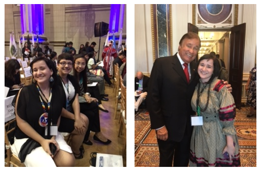 Credit: Me with Charitie and Mackenzie before the WHTNC - Me with Billy Mills at the White House Tribal Leaders Reception