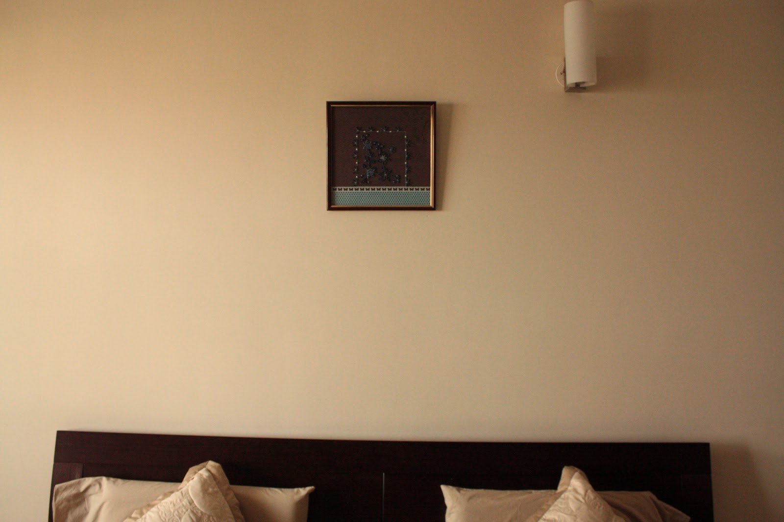 Simz Corner: Before and After - Master bedroom wall art