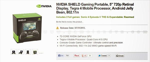 Nvidia Shield sẽ lên kệ vào ngày 31/07/2013 1
