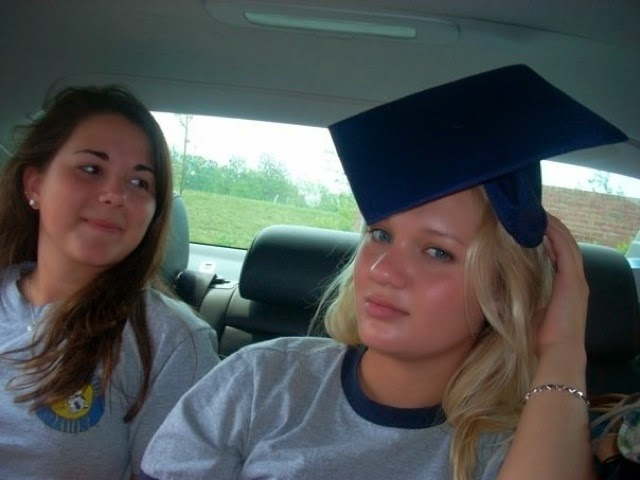 Nicki and Julia after graduating high school