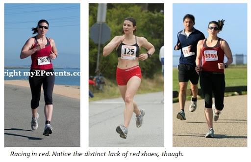 running in red