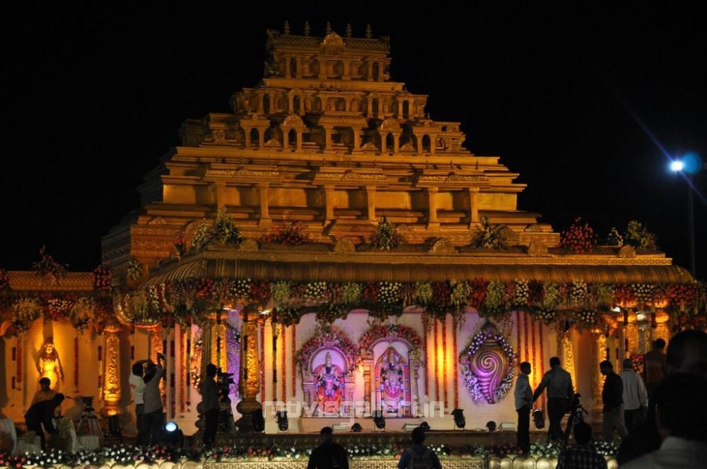 Maripeda Allu Arjun Sneha Reddy Pelli Mandapam Decorations Images