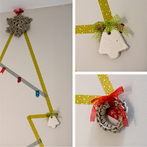Not 2 late to craft: Bones festes guarniments / Merry Christmas washi tape ornament