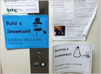build then destroy a snowman
