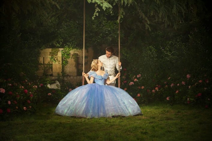 Have courage and be kind: some special alone time for Cinderella and Prince Charming at the ball #Cinderella