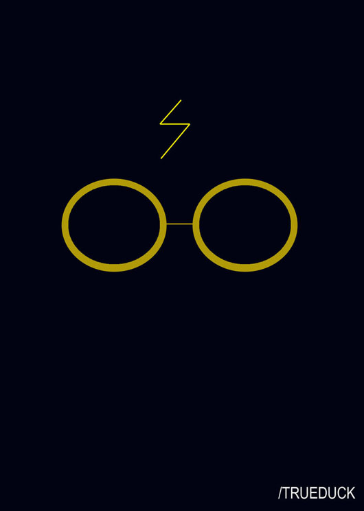 Harry Potter cartaz minimalista