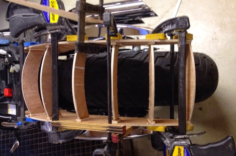 Custom fiberglass rear fender