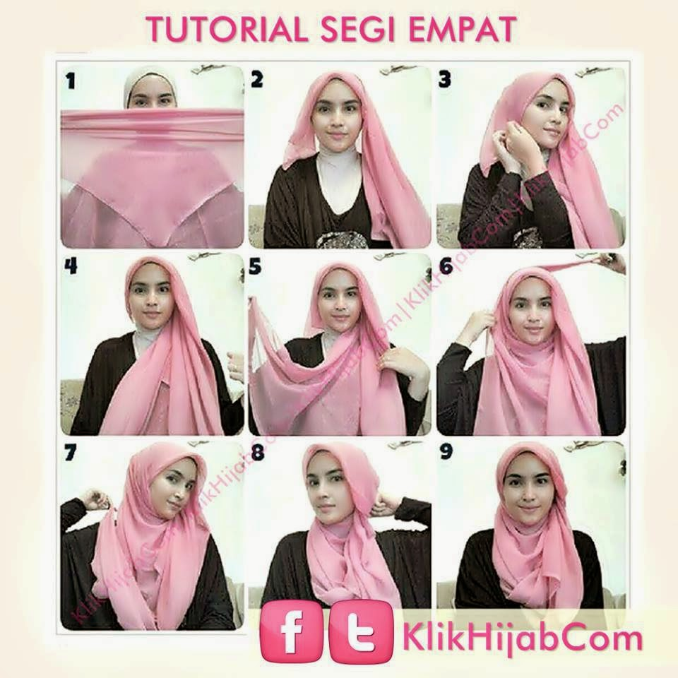 Tutorial Hijab Segi Empat Untuk Kebaya The Image Kid Has It