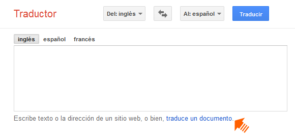 Google Translate: Documentos