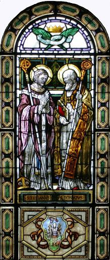 Vetrata del Duomo dedicata a San Tiziano e San Donato
