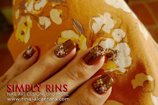 Nail Art Brown For A Wedding