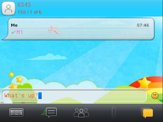 Cute Pink Doodle SMS viewer v1.5 for BlackBerry