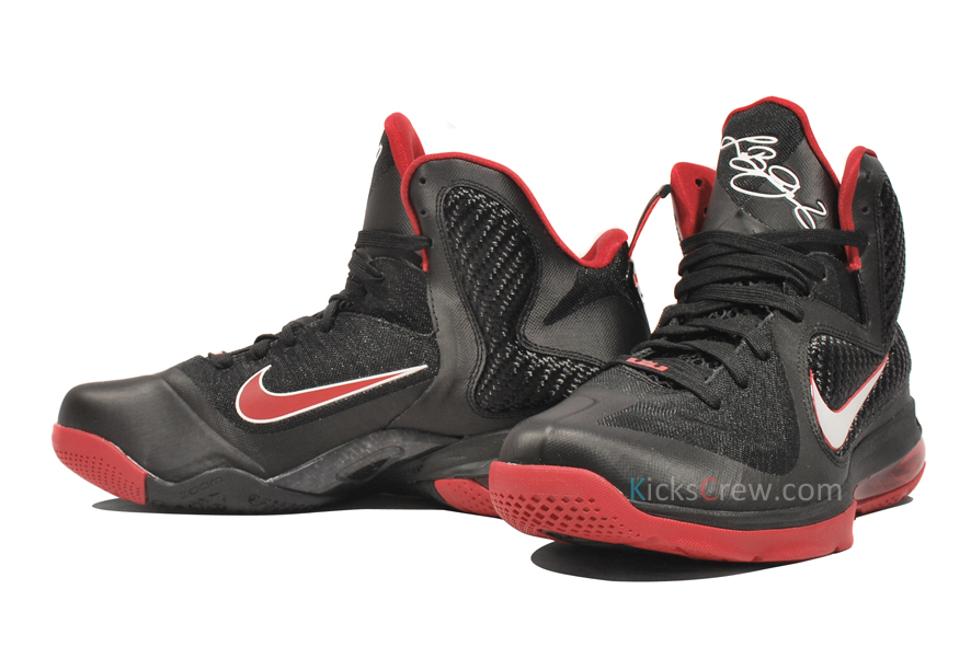new product 6ef56 3848b ... Yet Another Look at Nike LeBron 9 in Black amp Varsity Red ...