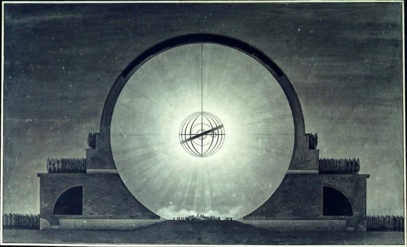 Cénotaphe à Newton by Étienne-Louis Boullée