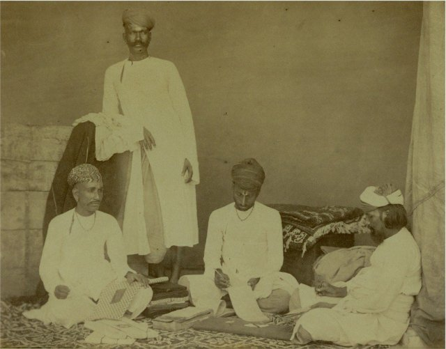 Albumen Photograph of Cloth Merchants