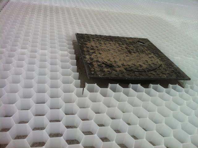 Advies zelf nida matten grind matten honingraat matten plaatsen op stabilis bouwinfo - Maak een grind steegje ...