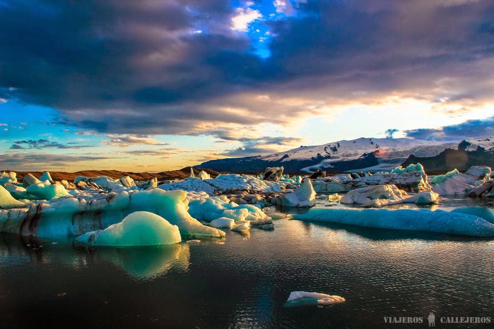 La Laguna glaciar Jökulsárlón, Islandia