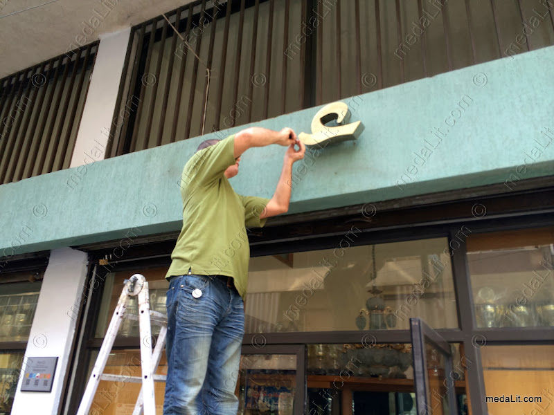 Installing Raised Letters Signs