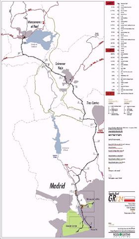 Ruta de Madrid a Manzanares el Real por el GR-124 - pincha para verlo ampliado