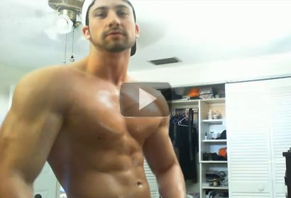 Ripped Physique Man Rubs Olive Oil!