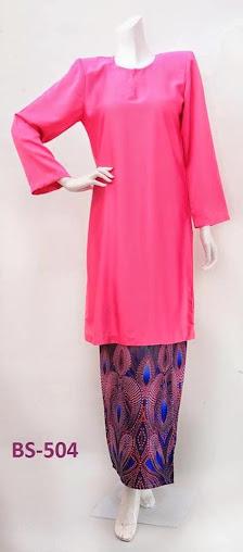 Baju kurung malaysia baju raya 2014 terkini pink merah jambu murah online