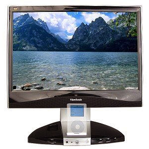 19-Inch ViewSonic VX1945wm Widescreen TFT LCD with iPod Dock (Blk)