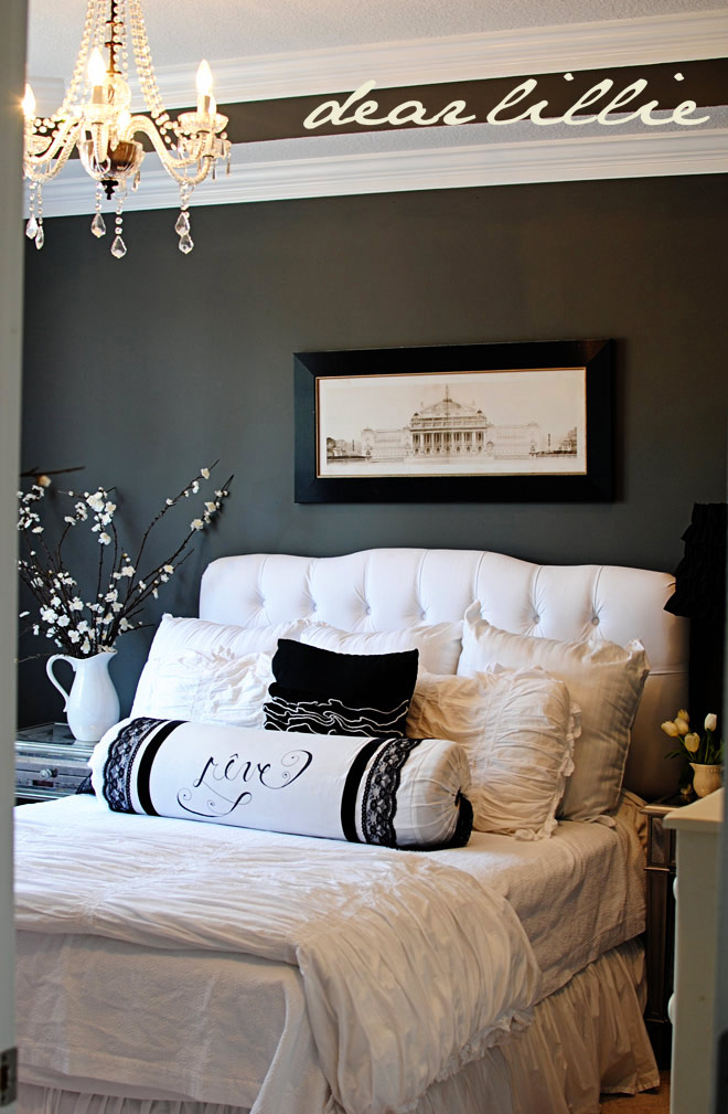 White and Gray Master Bedroom Ideas