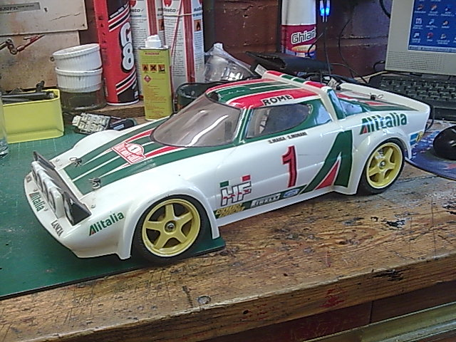 My only shelf queen, Carson Stratos Shell, Graupner touring car ...