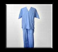 Uniformes de médicos.