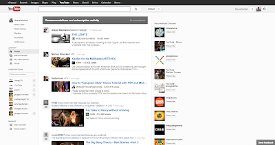 YouTube Design im September 2012